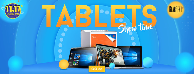 Opération tablettes show gearbest