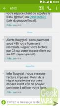 Bouygues SMS avertissement