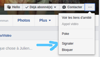 Signalement par facebook