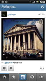 test instagram vu interface