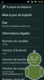 Android ICS 4 sur Xperia Ray