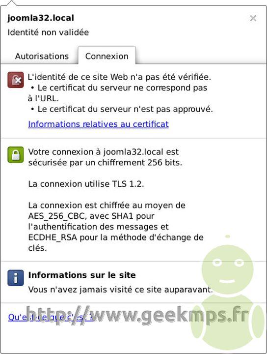 auto-signé certificat SSL