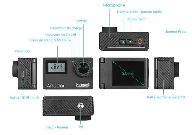 description camera An300 Andoer
