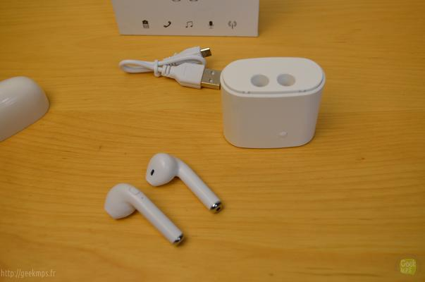 Audio test, mini earbud I7S TMS 006