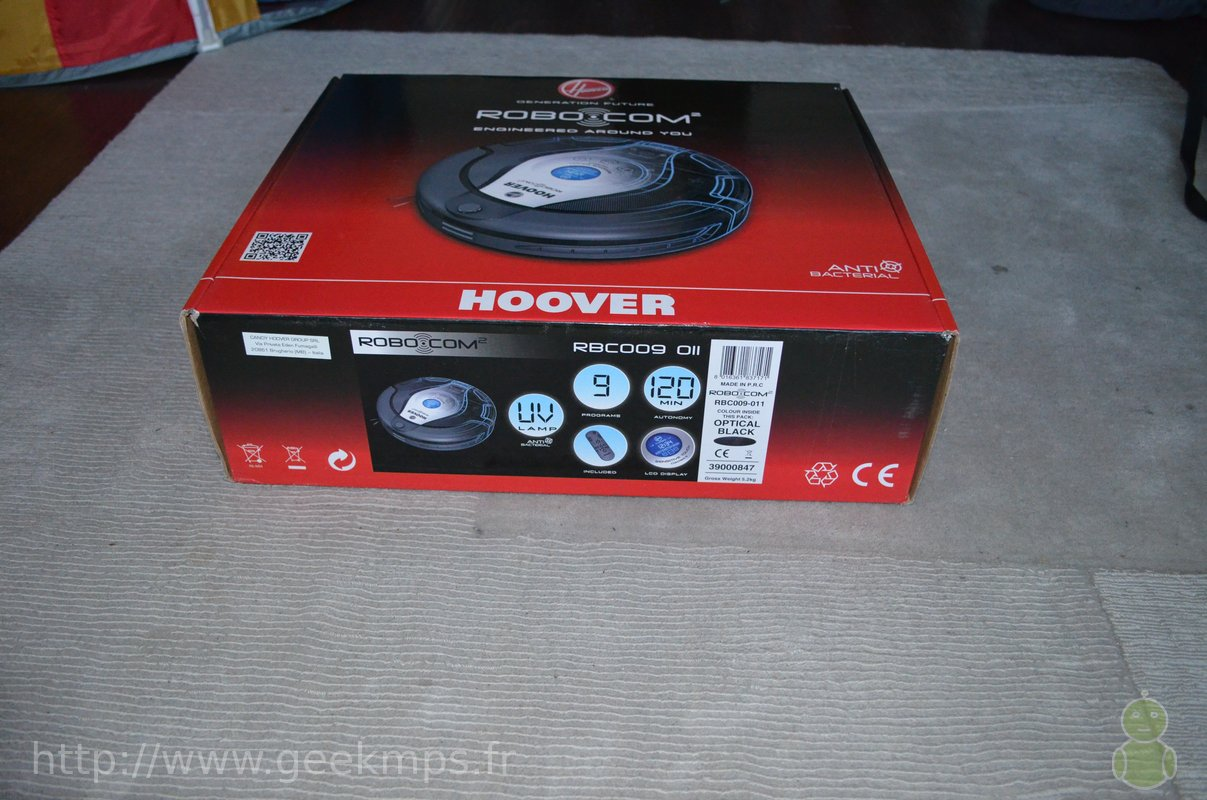 Robot aspirateur hoover rbc009 test and fail - Robot aspirateur hoover ...