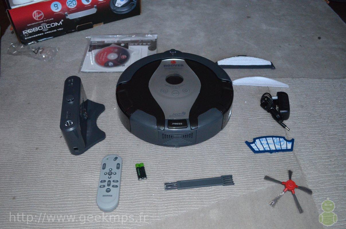 Robot aspirateur Hoover RBC009, test and fail