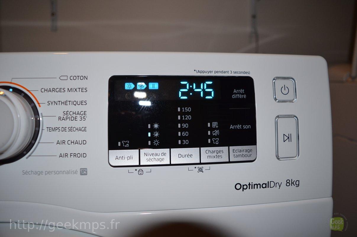 Test Du Sèche Linge Samsung Optimal Dry Dv80m 5010kw