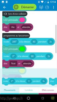 Sphero Mini les applications Android, Edu et play 025