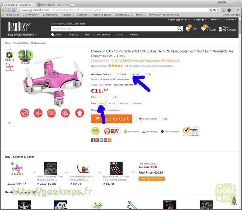 Commander sur les sites chinois aliexpress tinydeal gearbest etc - Le site de vente le moins cher ...